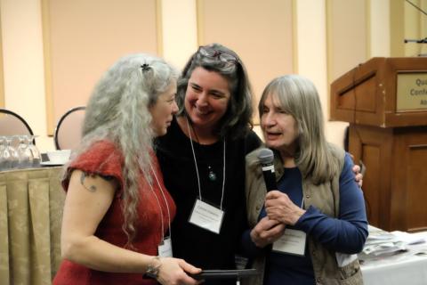 Rebecca Kneen, Carmen Wakeling, Heather Pritchard at COABC 2018 Conference