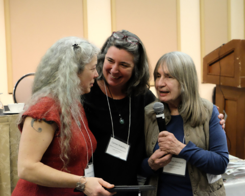 Rebecca Kneen, Carmen Wakeling, Heather Pritchard at COABC 2018 Conference
